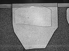 UV microscope image of hard disk read write head